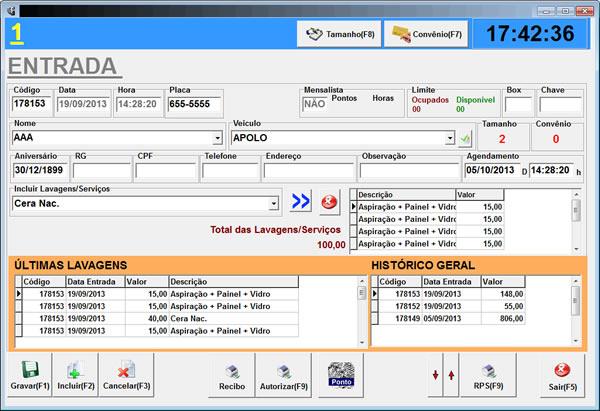 Sistema de Controle e Automação de Estacionamento versão Financeira, Esta é a versão mais completa, conta com Estoque, Pedido de Compra e Venda, Contas a Pagar, Contas a Receber e Controle de Ponto de Funcionário e funciona com leitor biométrico da nitgen